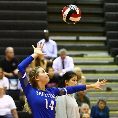 20191007 Varsity Girls Volleyball Sherwood at Blair