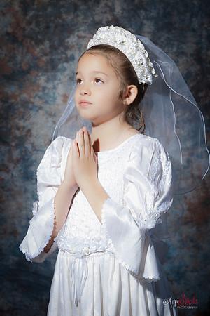 Gabriela Emma Guzman 1st Holy Communion Portraits