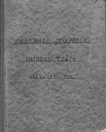William Rotch Ware Baseball Scrapbook 1934,1935,1936