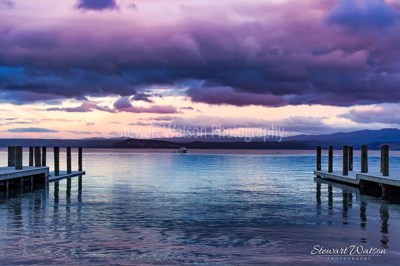 Purple Hues of dawn on Lake Taupo
