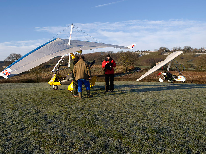 Shot of both microlight crafts after enforced landing.Olympus E3, 12-60mm SWD