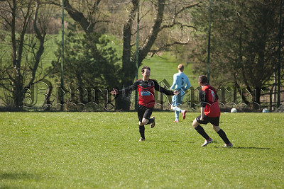 Rostrevor's Ronan Kinney celebreates after scoring in the opening few minutes of the match. RS1517003