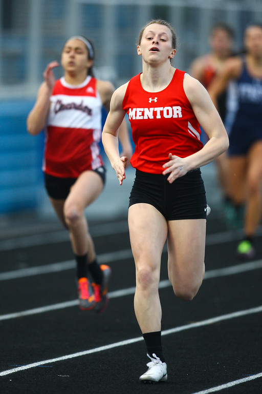 . 2018 - Track and Field - Willoughby South Invitational.  200 Meter Dash.  Paige Floriea won from Mentor in a time of 25.54.