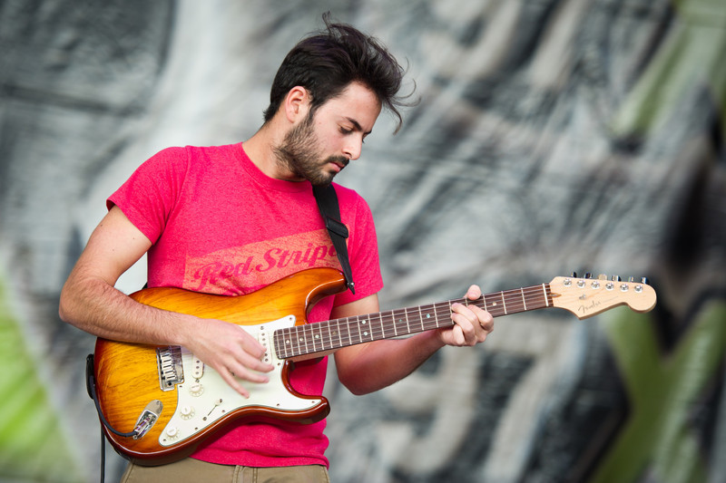 Eric Cannata of Young The Giant performs on December 3, 2011 during 97X Next Big Thing at 1-800-ASK-GARY Amphitheatre in Tampa, Florida