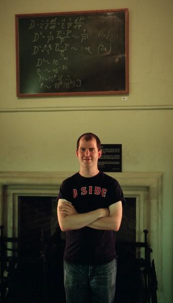 jeff and einstein's chalkboard