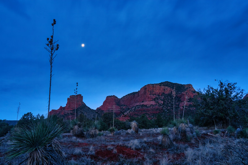 Moonset Over Castle Rock, Oak Creek