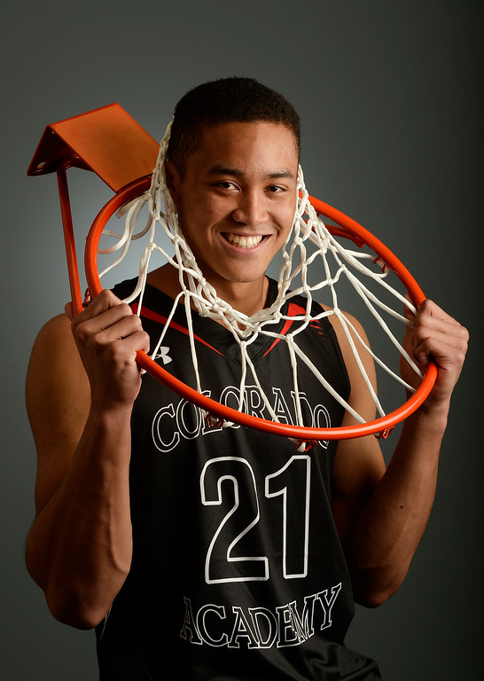 . The  Colorado All-State basketball teams for boys and girls at The Denver Post on Wednesday, March 30, 2016. Justin Bassey of Colorado Academy a senior.  (Photo by Cyrus McCrimmon/ The Denver Post)