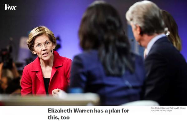 Vox article, Elizabeth Warren