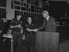 Mayor Hudnut at IPD Quarterly Awards, September 15, 1983, Img. 8, with Joseph McAtee