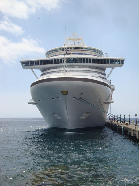 And cruise ships dock daily in town during the dry season, and every few days the rest of the year.