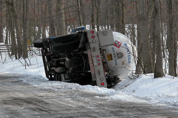 Propane Truck Overturn and Leak