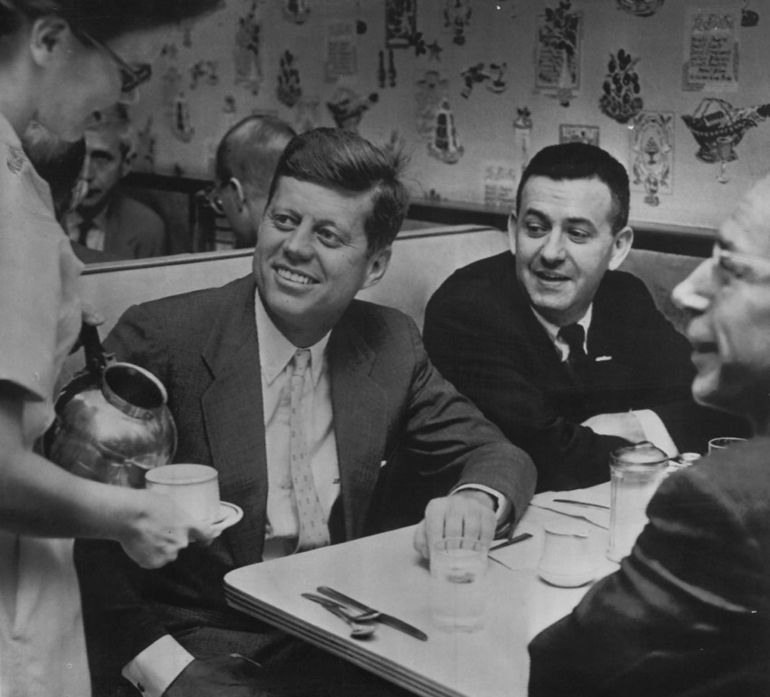 . Sen. Kennedy has breakfast in Huntington restaurant as he prepares for a final day of campaigning in West Virginia during the primary race. Associated Press file