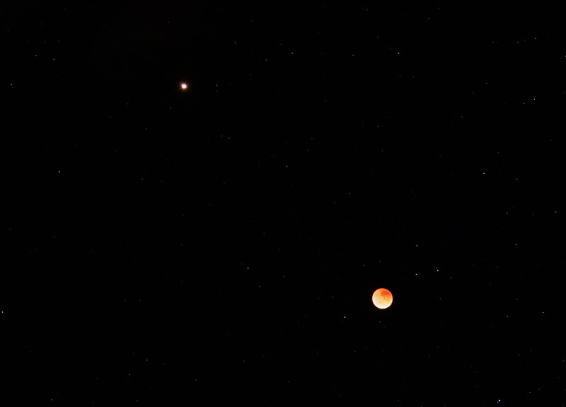 Mars and the Lunar Eclipse