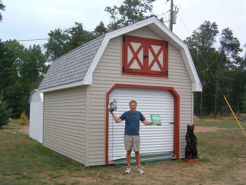 Built the shed