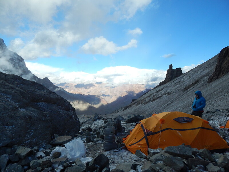 View towards Base Camp from Camp 1