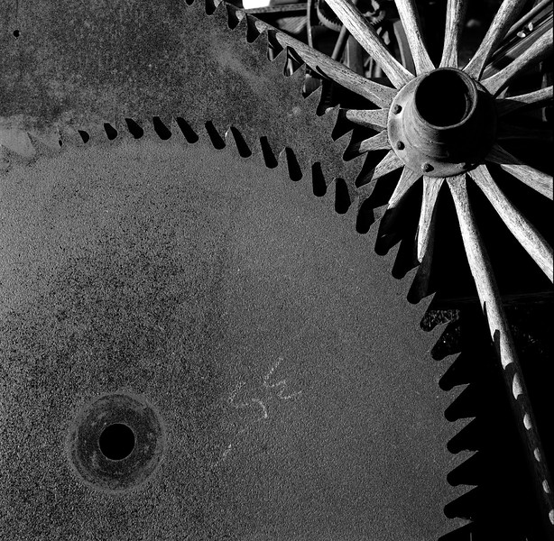 Wheel and Sawblades, Vergennes, VT. June 2001
