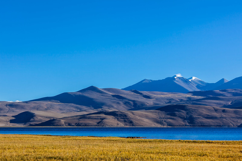 Lake Tso Moriri in Himalayas, Ladakh, India