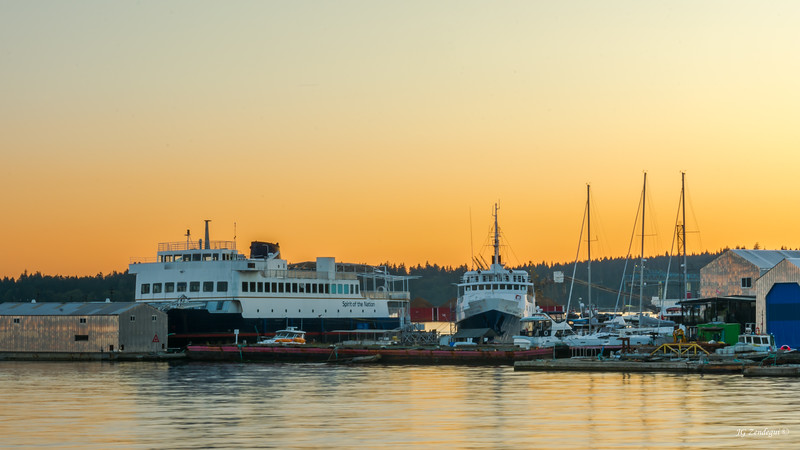 Vancouver Boatyard at Sunset