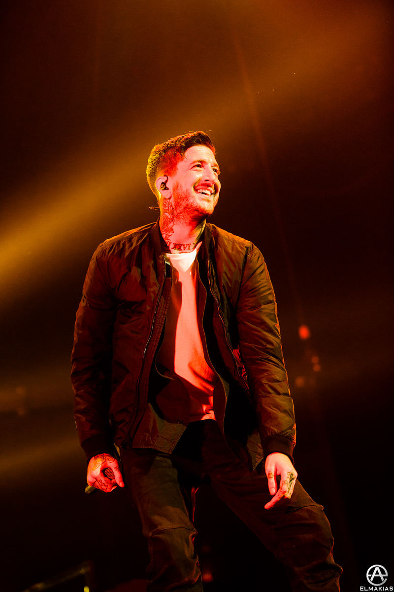 Austin Carlile of Of Mice & Men live at the Hunting Party Tour