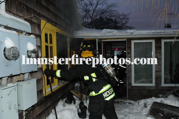 HICKSVILLE FD CHESTNUT ST FIRE 2-3-15