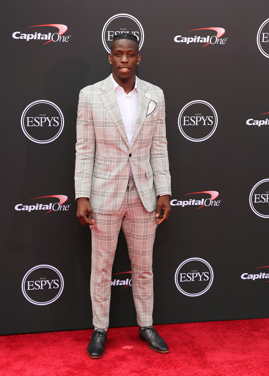 . Cincinnati Bengals\' John Ross arrives at the ESPY Awards at Microsoft Theater on Wednesday, July 18, 2018, in Los Angeles. (Photo by Willy Sanjuan/Invision/AP)