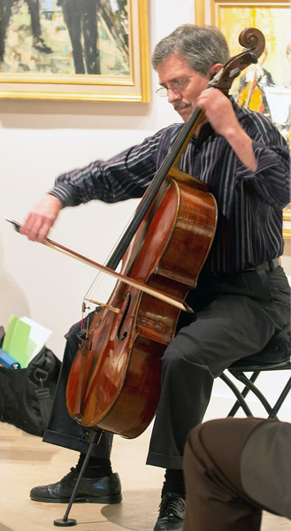 Barrett playing 'cello