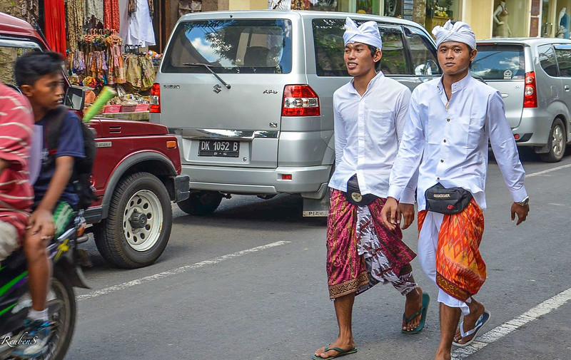 Young men in traditional clothing