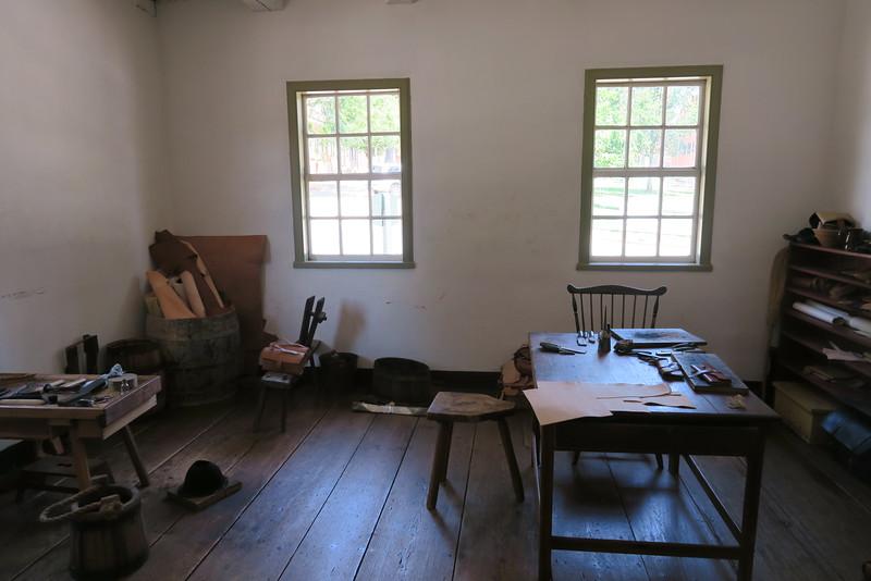 Single Brothers' House (ca. 1769, 1786) -- Shoe Shop
