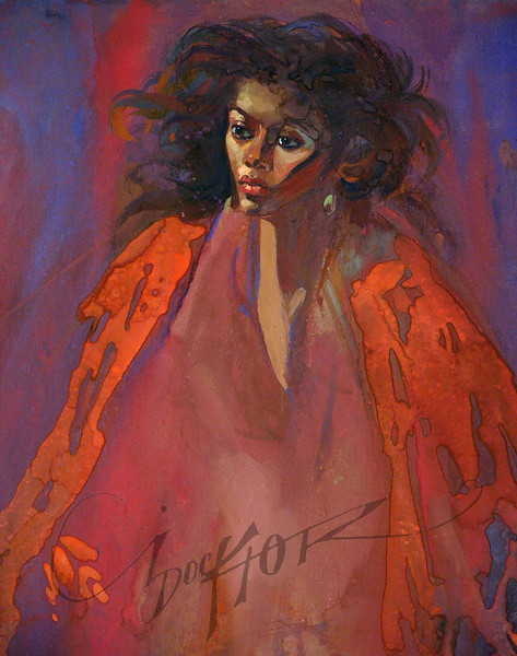 The Red Shawl by Irv Docktor