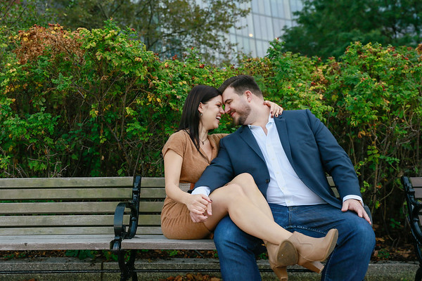 Kelly & Justin's Boston Harbor Engagement Session
