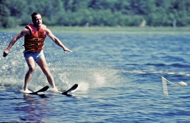 Circa:1982. John skiing