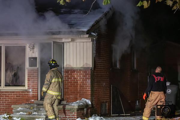 Inkster MI, rekindled House Fire 11/17/2019