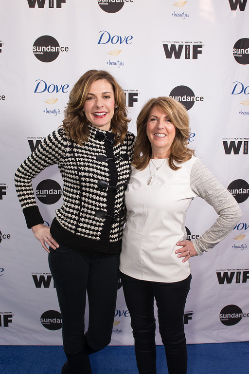 """. Director Cynthia Wade, left, and producer Sharon Liese at the premiere of \""""Selfie,\"""" a documentary short film made in partnership with Dove and Sundance Institute, on the 10th Anniversary of the ëCampaign for Real Beautyí, Sunday, Jan. 20, 2014 in Park City, Utah. (Douglas Barnes/AP Images for Dove)"""