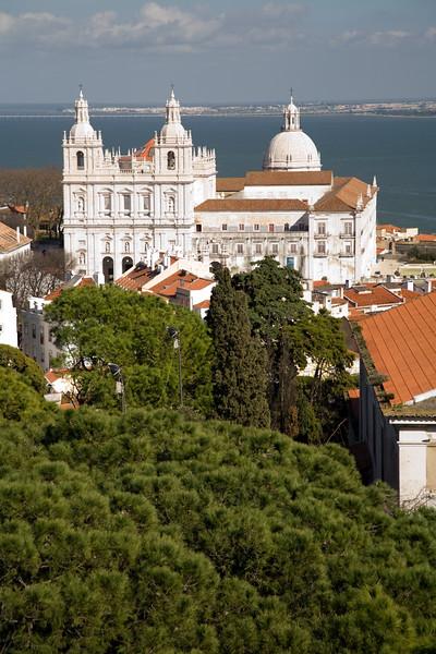 Sao Vicente and Santa Engracia churches from Saint Geroge castle, Lisbon