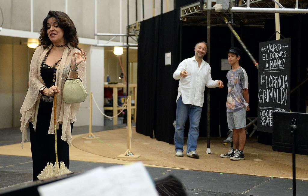 . Nancy Fabiola Herrera as Paula performs during a rehearsal of LA Opera\'s production of Florencia en el Amazonas at the Dorothy Chandler Pavilion in Los Angeles, Calif., Wednesday, Nov. 5, 2014.  (Photo by Keith Birmingham/ Pasadena Star-News)