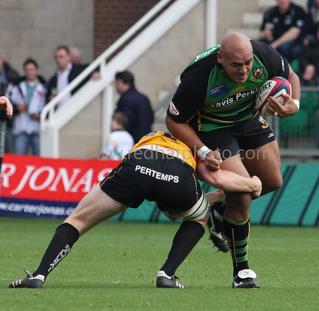 Northampton Saints vs Pertemps Bees, National Division 1, Franklin's Gardens, November 3, 2007