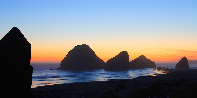 Sea Stacks at Dusk