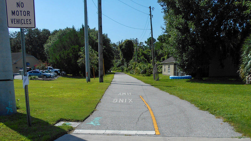 Houses and trail corridor