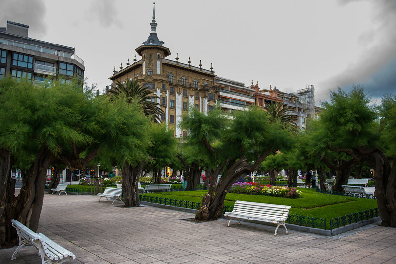 San Sebastian square along beach front