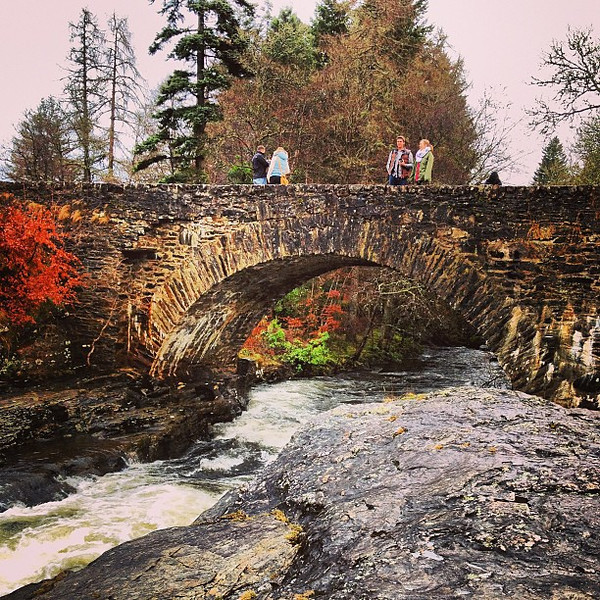 Winter water and the Bridge of Dochart, another fine piece of highland stonework #Scotland #blogmanay
