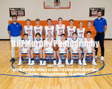 2017 - 2018 South Marshall Middle School 7th Grade Boys Basketball