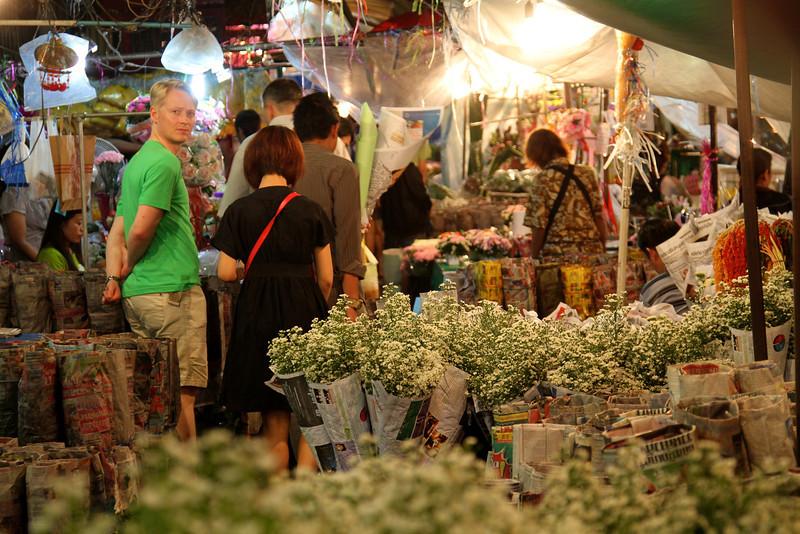 Bangkok - July 2011 Flower market