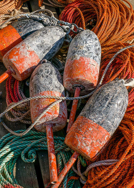 Coiled Rope and Lobster Pot Floats