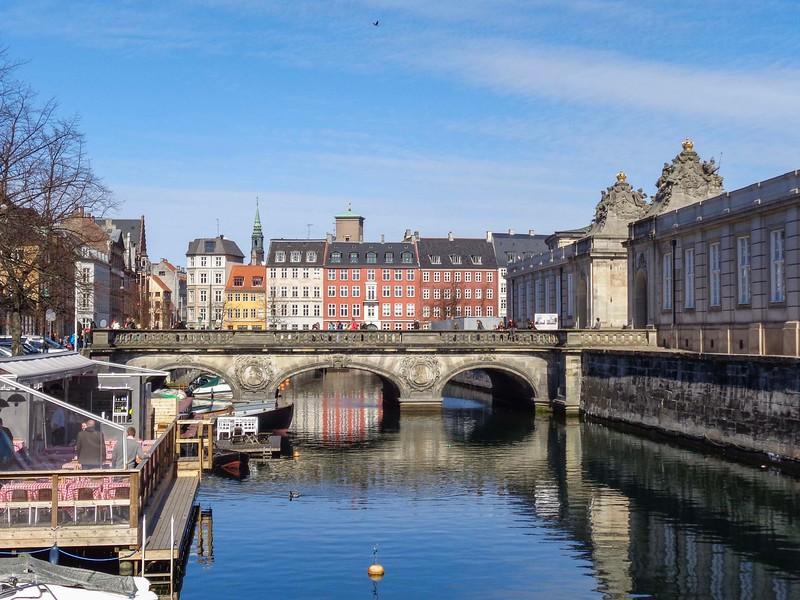 bridge spanning across canal in Copenhagen