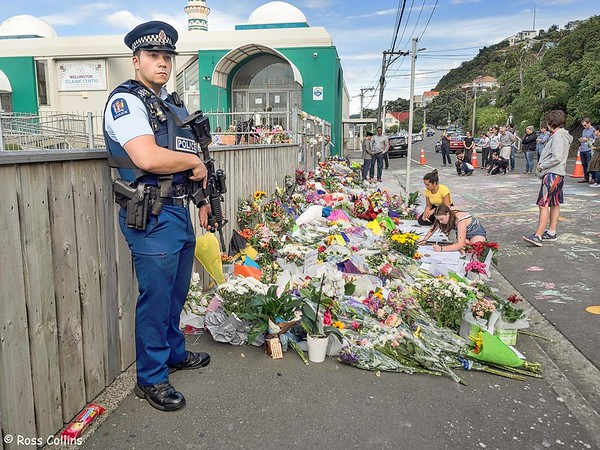 Floral Tributes at Kilbirnie Mosque 2019