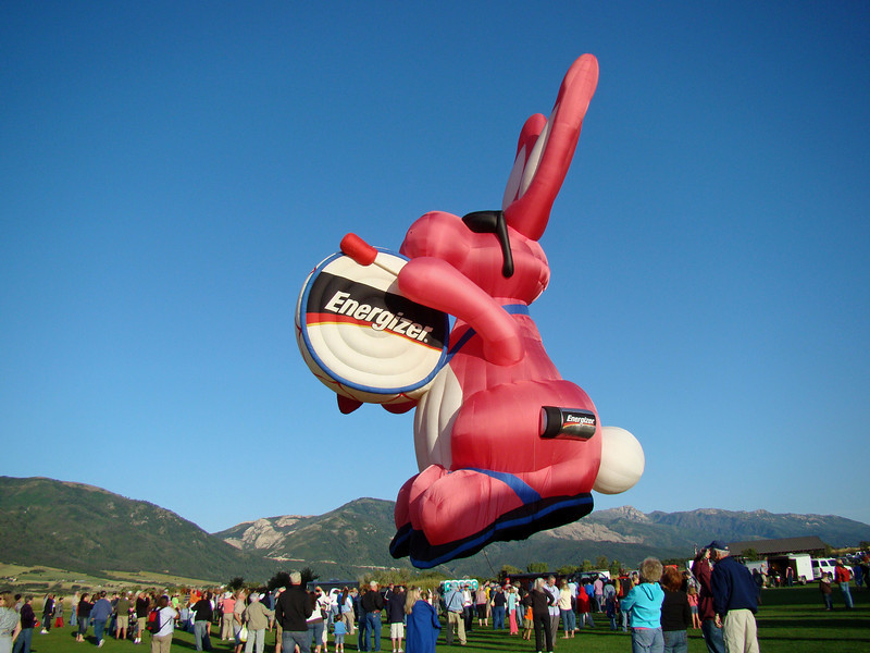 The Energizer Rabit, worlds largest hot air balloon.