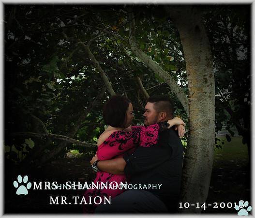 MRS.MR. SHANNON  TALON WEDDINGDAY 10-14-2018