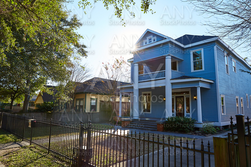 Houston heights victorian style houses Texas