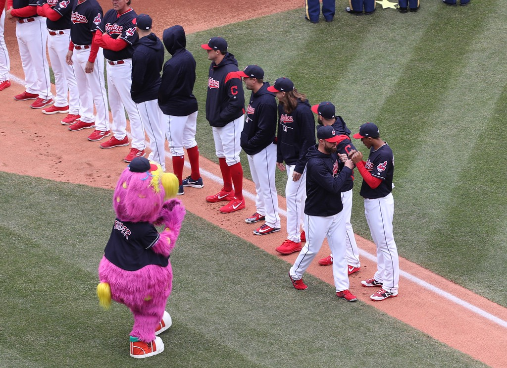 . Tim Phillis - The News-Herald Action from the Indians home opener April 6 vs. the Royals.