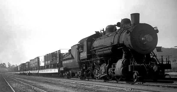 Foley and Burk Circus train through San Luis Obispo California July 1937.jpg
